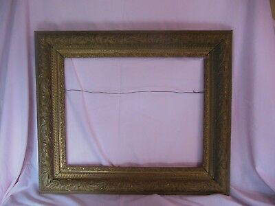 """Antique Victorian Plaster On Wood Fancy 26 1/8"""" X 22 3/8"""" Frame Good Condition"""