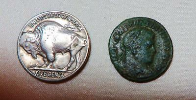 Roman Britain, Reduced Follis Of Constantine I, Chilbolton Down Hoard, Seaby