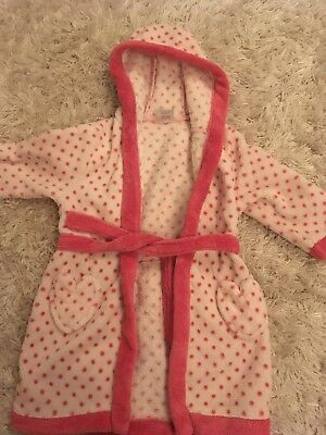 Baby Girls Dressing Gown Age 18 Months