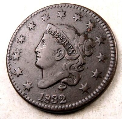 1832 Coronet Head Large Cent // VF+ // Better Date! // (LC371)
