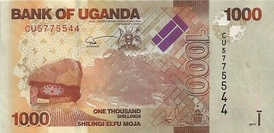 Nice Uganda 1000  Shillings, Bank Note UNC