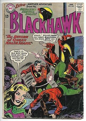 Blackhawk #204 (DC, 1965) – Killer Shark – Zinda – VG