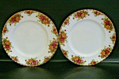 ROYAL ALBERT Old Country Rose Dinner Plates X 2  - 1st Quality