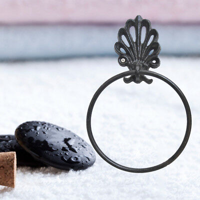 1PC Towel Ring Wrought Iron Round Shaped Household Vintage Holder for Home Decor