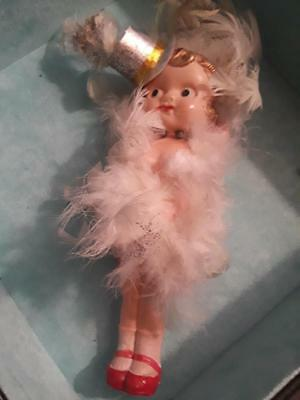 """celluloid carnival prize doll antique 1930s 7"""" small kewpie  vintage collectible"""