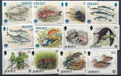 [109379] Jersey Fauna good Lot very fine MNH Stamps