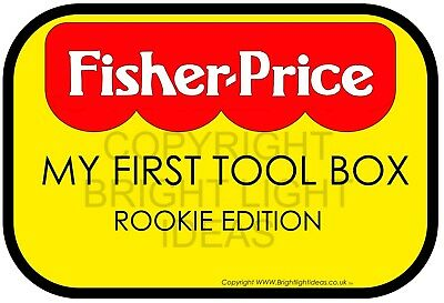 Toolbox Sticker, Snap On, Bluepoint, Tool Chest, Rookie Edition. Parody