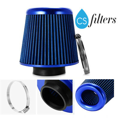 Universal Blue Car Air Filter Induction Kit High Power Sports Mesh duo Cone 76mm