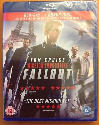 MISSION:IMPOSSIBLE - FALLOUT (Blu-ray, 2-Disc) *NEW/SEALED* Tom Cruise