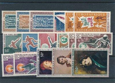 [109558] Niger good Lot very fine MNH Airmail Stamps