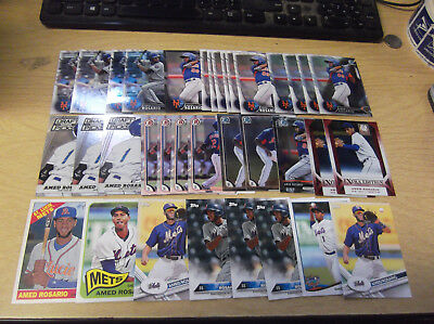 Lot Of (35) Amed Rosario Rc Cards New York Mets W/ 15 Different