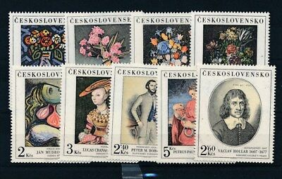 [109616] Czechoslovakia Art/Painting good Lot very fine MNH Stamps