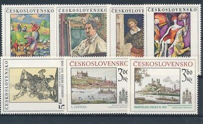 [109619] Czechoslovakia Art/Painting good Lot very fine MNH Stamps