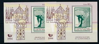 [109634] Lithuania 1994 2x good Sheet very fine MNH