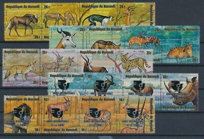 [G88704] Burundi Fauna good lot Very Fine MNH stamps
