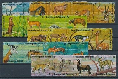 [G88705] Burundi Fauna good lot Very Fine MNH stamps