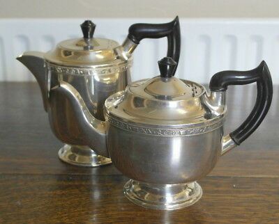 antique  silver plate TEAPOT WATER POT walker and hall
