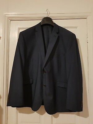 "Mens Single Breasted Blue Suit Size 50R & 42"" Waist 29"" Leg"