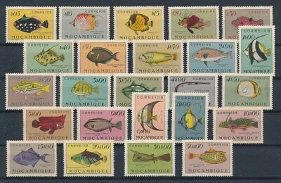 [G89202] Mozambique Fishes good set Very Fine MNH stamps spots of rust