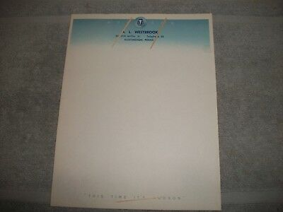 Org 1940's 1950's Hudson Motor Car Dealership Letterhead Unused Huntingdon, Pa