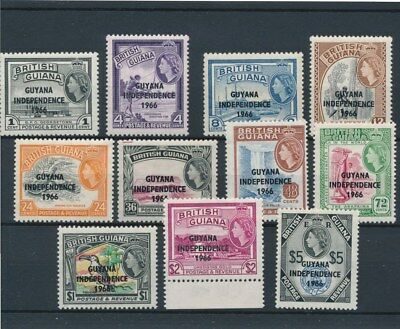 [133914] Guyana 1966 good set of stamps very fine MNH