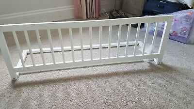 Wooden Safety Bed Rail - White