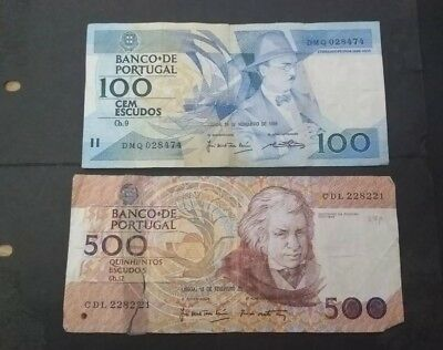 Portugal 2 banknotes