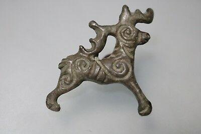 Ancient Viking Scandinavian Bronze Deer Amulet  8-10th Century AD.