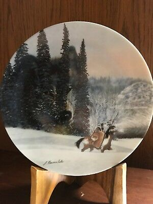 """Wolf Ridge"" Faces Of Nature Collector Plate"