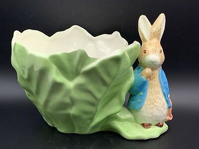 Nice Vintage Beatrix Potter Peter Rabbit Cabbage Flower Planter, 1998