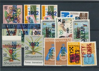 [134275] Guyana good lot of stamps very fine MNH