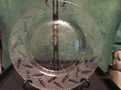 COCA-COLA Clear Glass 10 inch  Embossed Collectible Plate COKE