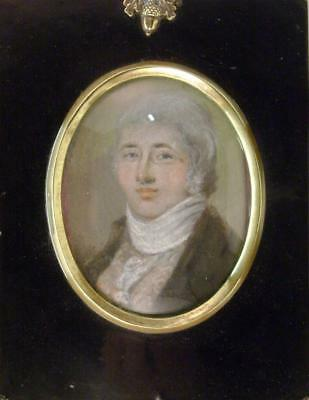 Small Portrait Of A Late 18Thc Gentleman Pastel Eng.ish School C1780