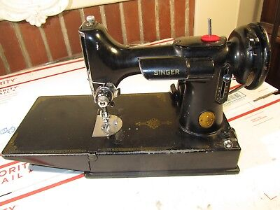 Vintage Singer Featherweight 221 3-110 Sewing Machine w/ Foot Pedal, No Case