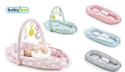 BabyJem Baby Newborn Nest Cocoon Cushion + Pillow And Side Support 100% Cotton