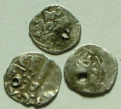 Lot 3 original authentic Islamic silver akce coins Ottoman Empire Bayezid Mehmed