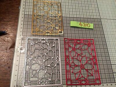 Poinsettia Flower stained glass window effect panel die  ref4710 REDUCED