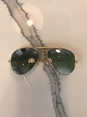 Vintage B&L Ray Ban Aviator Sunglasses 12k Gold Double Gradient