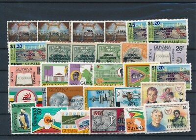 [G126003] Guyana good lot of stamps very fine MNH