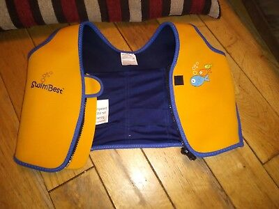 Swimbest Yellow Swim Jacket 18-36 months, space for floating aid to be inserted