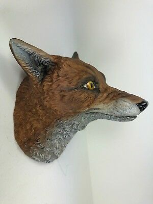 **scarce** Aynsley Porcelain, England, Fox Head Wall Masque, 1975, Outstanding!