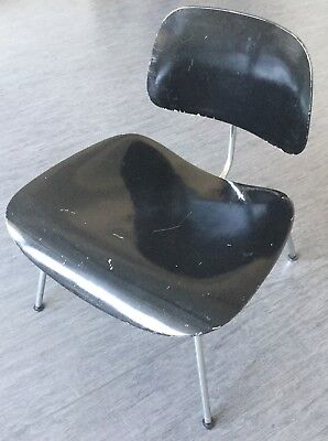 Original Herman Miller 1960er Eames LCM Lounge Chair Metal in schwarz
