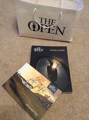 Autographed 147th Open Programme Plus Media Guide - Rose and Harrington