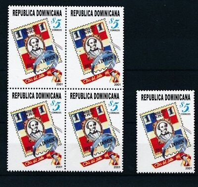 [16966] Dominican Rep 2001 : 5x Good Very Fine MNH Stamp