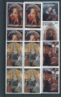 [17006] Antigua & Barbuda 2001 : 4x Good Set Very Fine MNH Stamps in Blocks