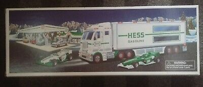 Hess 2003 Toy Truck and Racecars New in Box with Original Bag