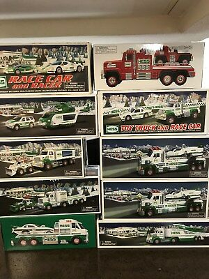 Lot Of (10) Hess Toy Trucks 2010 to 1018