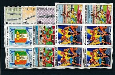 [17220] Ivory Coast : Good Lot of Very Fine MNH Stamps in Blocks of 4