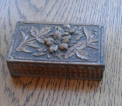 Small Black Forest Carved Box