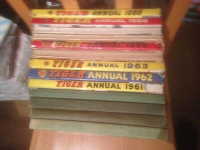 Tiger Annuals 31 Editions  1957-1987 Good Condition Includes Roy of the Rovers